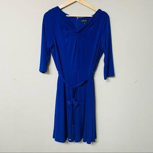 Tahari - Arthur Levine - royal blue dress - 10